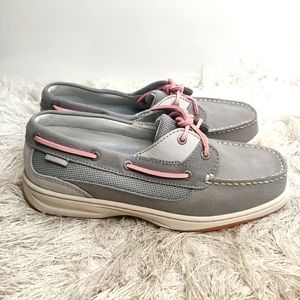 Ll bean ladies Leather boat shoes sz 8.5